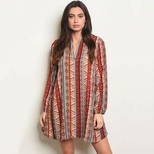 Peach Love Multi Print Dress